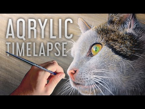 Acrylic Speed Painting Cat