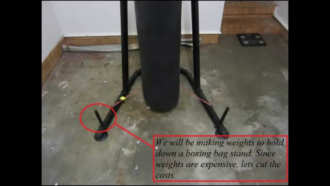 How To Make Weights For A Boxing Bag Stand Interfecter