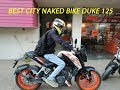KTM DUKE 125 | TEST RIDE REVIEW | PERFECT NAKED CITY BIKE!