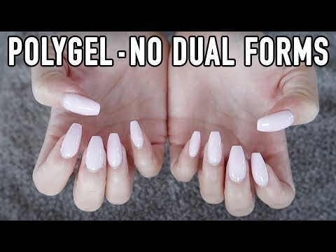 I Tried To Apply Polygel With Nail Forms Instead Of Dual Forms   Lifting Problem Solved?!