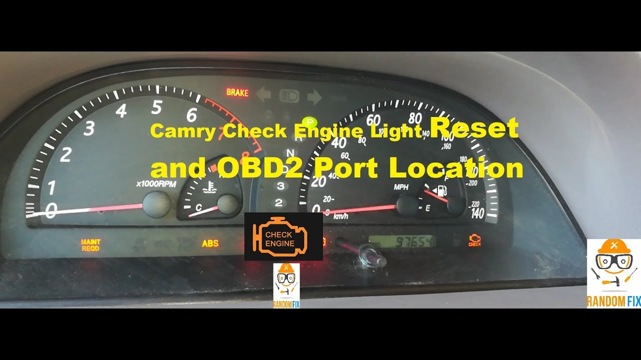 toyota camry check engine light and obd2 port how to reset 2001 2002 2003 2004 2005 2006 [ 1280 x 720 Pixel ]