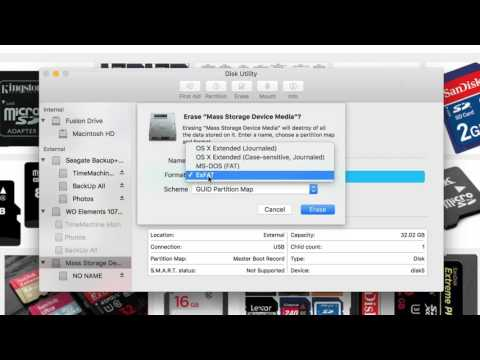 How to Format Micro SD card in El Capitan OS X Mac , how to set up sd card in Mac