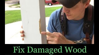 Bondo Patch Damaged Wood