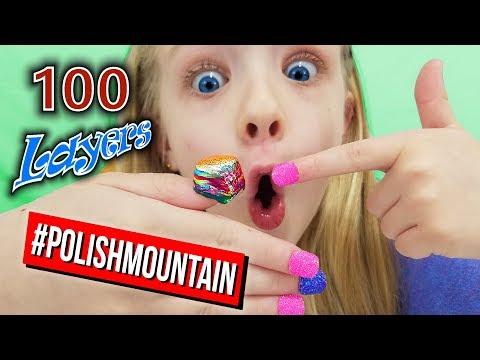 100 Layers Of Nail Polish Challenge! Insane # Of Coats Of Polish Mountain!