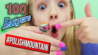 100 Layers of Nail Polish Challenge! Insane # of Coats of Polish Mountain! thumbnail