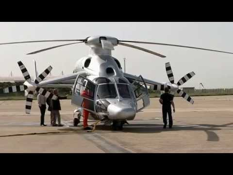 Eurocopter X3 hybrid helicopter new speed record at 263 knots 487 kmhr French aviation industry