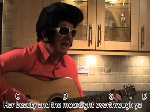 Hallelujah - Elvis Presley impersonator - easy chords guitar lesson ...