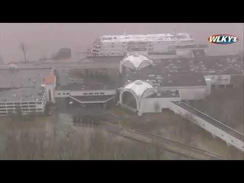 AERIALS: Horseshoe Southern Indiana Casino flooding