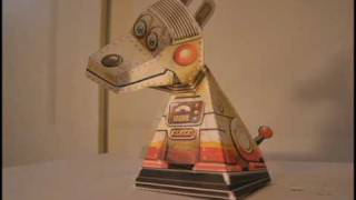 Steampunk Robot DOG Papercraft Optical Illusion