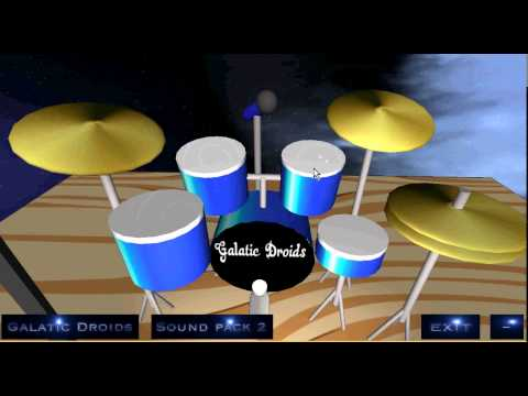 Pocket Drummer 360, play virtual drums in 360 degrees.