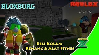 ROBLOX Indonesia | Bloxburg | Finally got swimming pool and fitness equipment