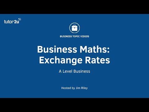 Business Maths - Exchange Rates