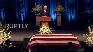 USA: Tears and laughter as friends remember Maverick McCain