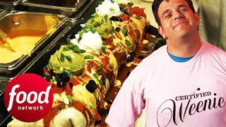 Adam Richman Vs The Biggest Baddest 6 Pound Burrito! | Man v Food