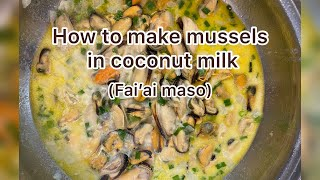 #polytubers | How to make Mussel in coconut milk easy recipe | cooking with Rona