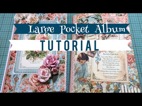 •TUTORIAL• Large Pocket Albums | Using 4 Sheets Of 12x12 Paper!