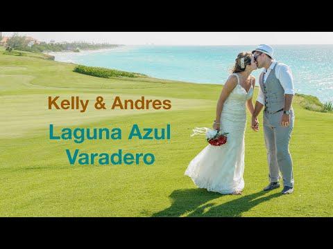 Kelly and Andres destination wedding at Laguna Azul, Varadero, Cuba by AV smile  wedding photography