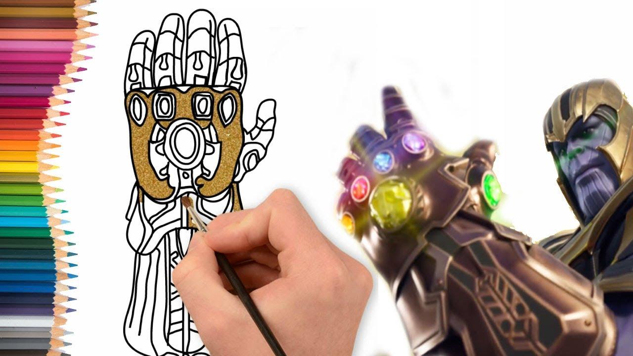 Como Dibujar Y Colorear El Guante De Thanos Dibujos Para Niños Youtube