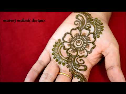 Mehndi Easy Design : Quick and easy mehndi henna designs for navrathi specialfloral