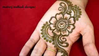 quick and easy mehndi henna designs for navrathi special|floral mehndi designs for hands