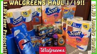 🤑$1.80 Scott!+ $1.30 Tide! Walgreens HAUL 1/19+Walgreens Digital Couponing+Walgreens