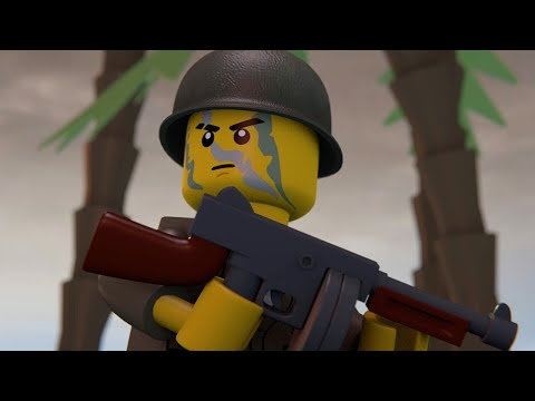 LEGO WAR IN THE PACIFIC 4 - MAKIN ATOLL (full movie)