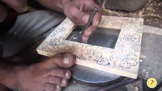 Making Of Handicraft Wooden Picture Frame