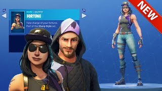 *NEW* MONIKER & FORTUNE SKINS, RHINESTONE GLIDER & STUDDED PICK AXE - FORTNITE BATTLE ROYALE