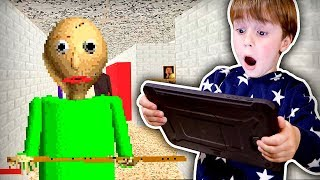BALDI'S BASICS NO ROBLOX!! Gameplay no Tablet Android - Maikito e Brancoala
