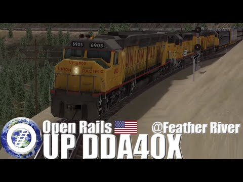 Open Rails (MSTS compatible train sim)  Union Pacific DDA40X at Feather River Route