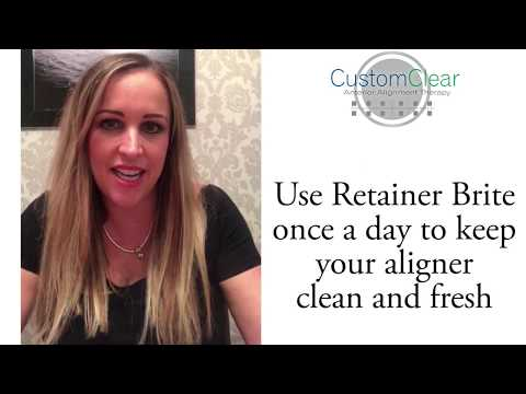 Custom Clear aligners 2nd video diary on Retainer Brite - Louise Wood