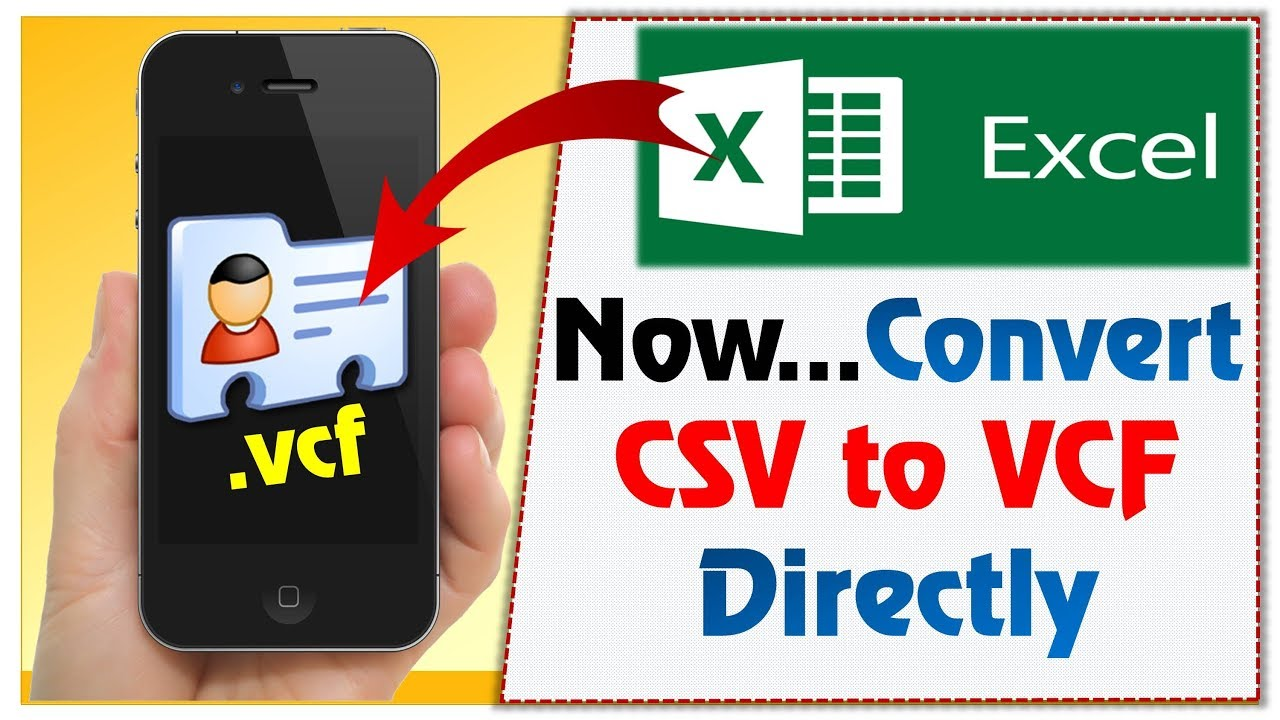 How to Convert Excel ( csv) to  vcf file Directly | csv to vcf | Excel to  vcf converter