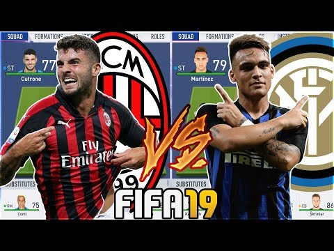 FUTURE AC MILAN TEAM VS FUTURE INTER MILAN TEAM- FIFA 19 Experiment