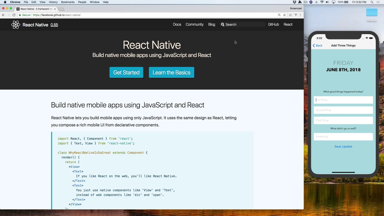 Your First React Native App - Part 1