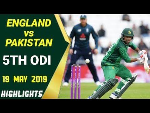 Download Pak vs eng 5th odi full match highlights 2019
