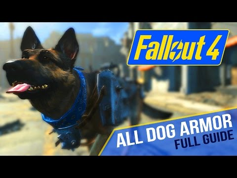 FALLOUT 4 - ALL DOG ARMORS - Full Guide - Dogmeat Equips & Accessories