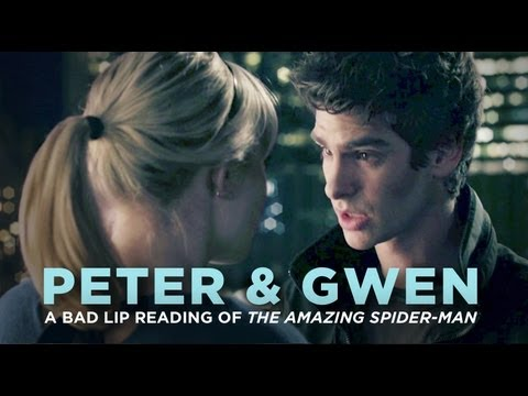 "Thumbnail: ""PETER & GWEN"" — A Bad Lip Reading of The Amazing Spider-Man"