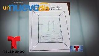 El dibujo de un niño de siete años alarma a miles por su contenido | Un Nuevo Día | Telemundo