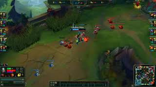 Tryndamere vs Teemo First Blood.  League of Legends 2018