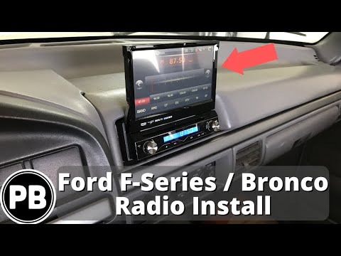 1992 1997 Ford F Series Bronco Stereo Install Youtube