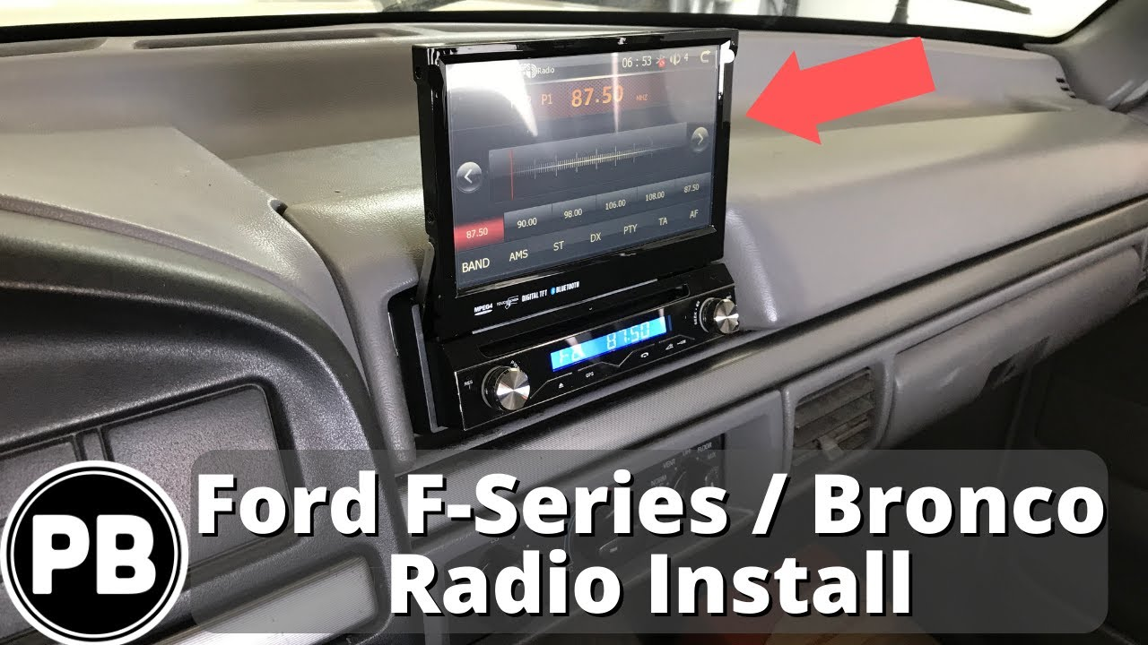1992 1997 ford f series bronco stereo install [ 1280 x 720 Pixel ]