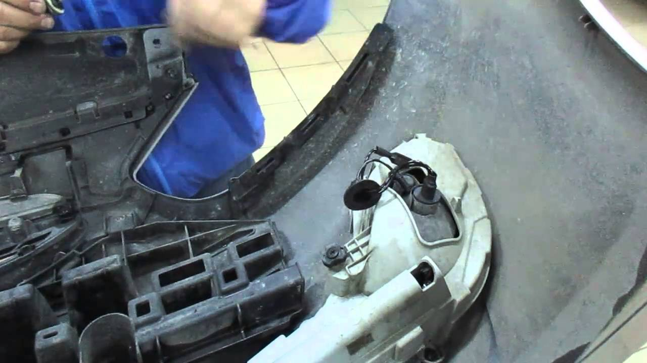 Установка ксенона в туманки хендай солярис