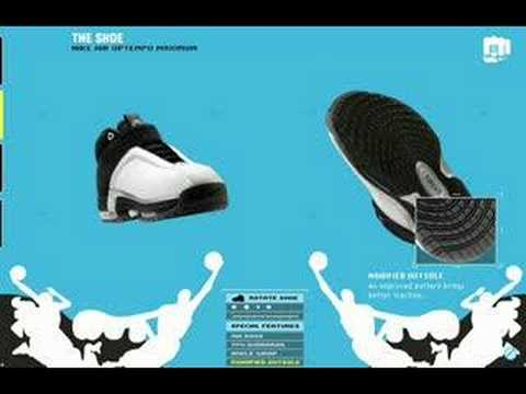 Nike Basketball shoe product rotation 360 degree flash tour