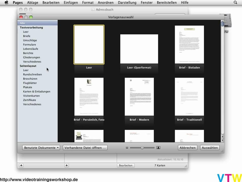 Serienbrief Mit Pages 09 Erstellen