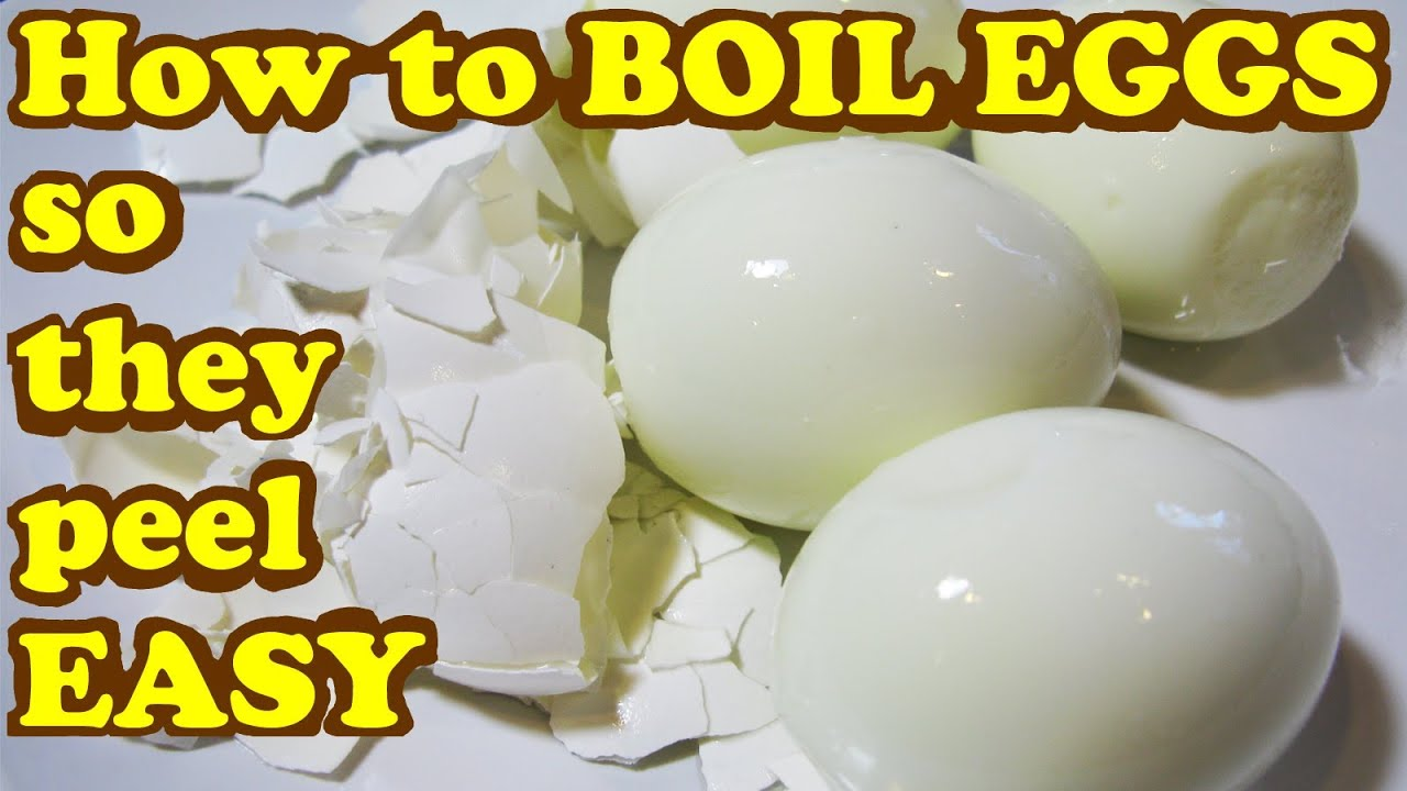 How do you cook hard boiled eggs so that they peel easily