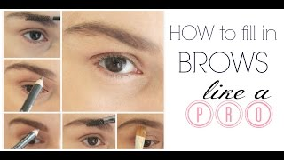 How to fill in Eyebrows like a PRO Thumbnail