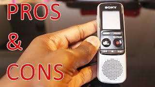 Sony ICD-BX140 Digital Mono PROS & CONS REVIEW HVXC/MP3 Voice Recorder with 4 GB Built-In Memory