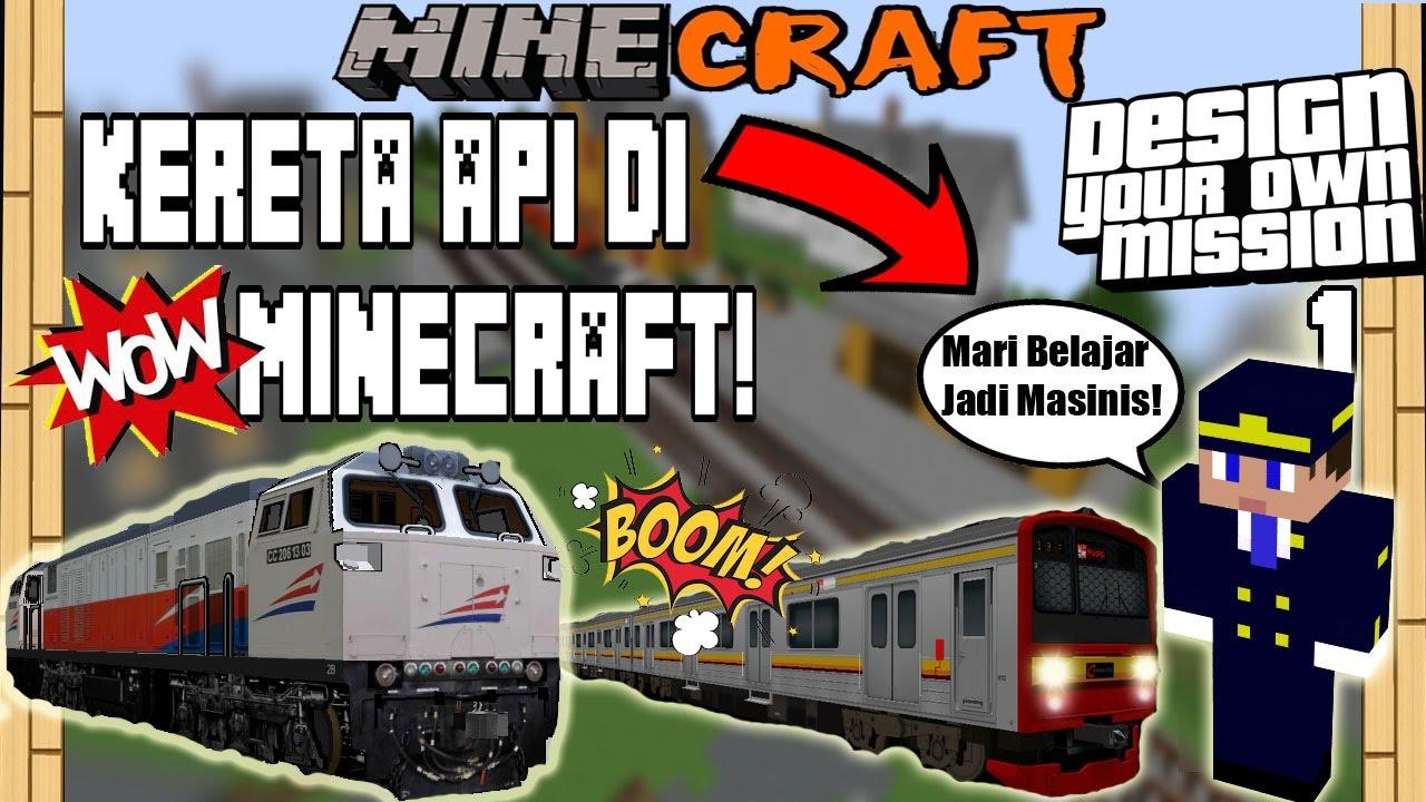 Gambar Kereta Api Minecraft Video Minecraft Kereta Api Omong V