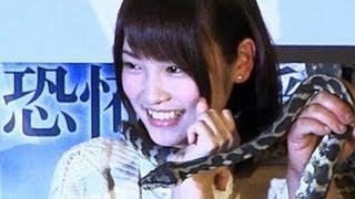 AKB48の川栄李奈さんが8日、六本木の映画館で行われた映画「シー...