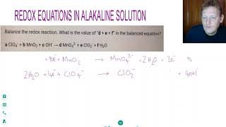 HOW TO BALANCE REDOX EQUATIONS in ALKALINE  SOLUTION | A Level Chemistry Tutor